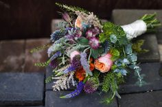 Rustic scottish wedding flowers