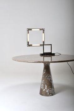 Vintage Quadro Lamp By Jacques Adnet 4 Table Lamps For Sale Lamp Vintage