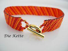Armbänder - Rotes Armband angenehm leicht - ein Designerstück von Die-Kette bei DaWanda