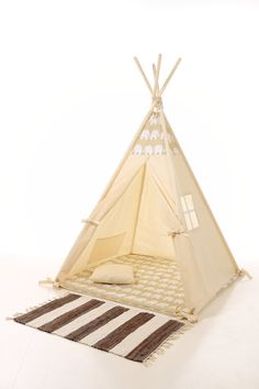 Items similar to Kids Teepee Tent - Plain cotton indoor children's tipi with poles on Etsy Kids Tents, Teepee Kids, Diy Tipi, Childrens Teepee, Teepee Play Tent, Modern Murphy Beds, Grey Elephant, Kid Beds, Kids And Parenting