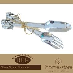 Visit us for the most stunning Mother's Day gifts in silverware, such as this salad spoon set, also available at Home-Store as well as a wide range of other goodies.