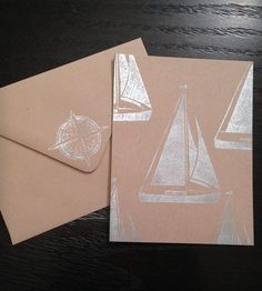 Sailboat Collage Card by Handmade Mail on Scoutmob Shoppe