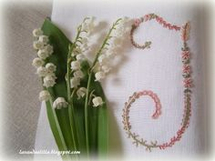 Lavanda e Lill: Nuove Lettere dellAlfabeto J, K, L Embroidery Letters, Hand Work Embroidery, Linens And Lace, Hand Stitching, Crochet, Alphabet, Diy Projects, Lettering, Sewing