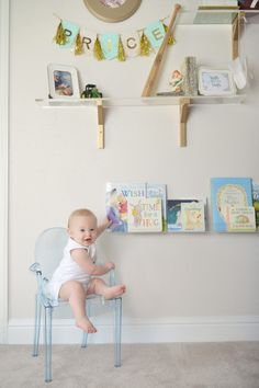 Lucite chair in the nursery - love it!