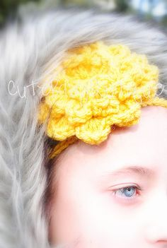 Beautiful Flower Croche String Headband!