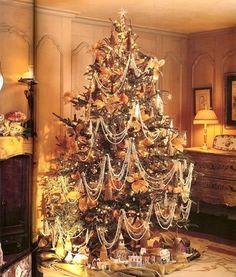 Beautiful Tree.  Like the idea of the lighted village under tree.