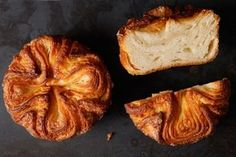 """You haven't lived if you haven't had a Kouign Amann. Kouign amann (koo-WEEN a-MON; the name means """"butter cake"""" in Breton, the ancient Celtic language of Brittany) Kouign Amann, French Desserts, Köstliche Desserts, Delicious Desserts, Dessert Recipes, French Food, Plated Desserts, Cheesecake Recipes, Savoury Baking"""