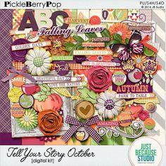 Tell Your Story - October Digital Kit By JB Studio