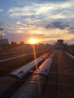 Estación de trenes de Kiev.