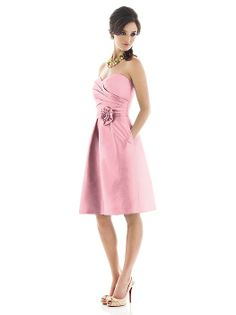 Alfred Sung Style D498 Twirl http://www.dessy.com/dresses/bridesmaid/d498/?color=strawberry&colorid=633#.Um2UX_km4uc
