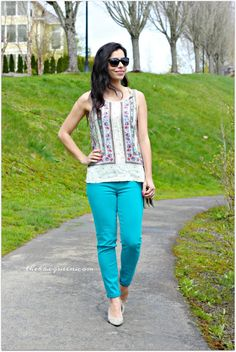 Teal pants and your ready for Spring!