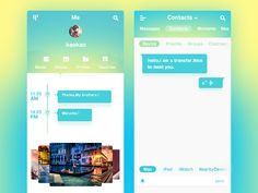 DAILY UI015-CHAT APP DESIGN