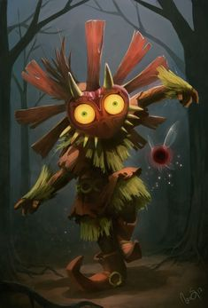skull kid - legend of zelda - majora's mask