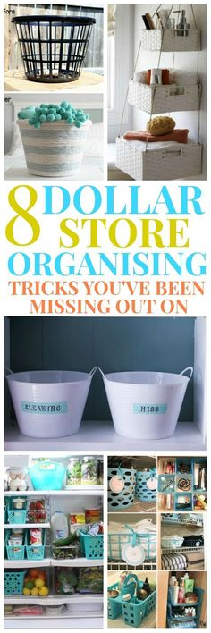 Home Decorating Ideas Diy Check out these 8 Dollar Store Organising Tricks for your Home Decor. Home Decorating Ideas Diy Source : Check out these 8 Dollar Store Organising Tricks for your Home Decor. by Share Dollar Store Hacks, Astuces Dollar Store, Dollar Store Crafts, Dollar Stores, Easy Home Decor, Cheap Home Decor, Kitchen Organization, Storage Organization, Dollar Store Organization