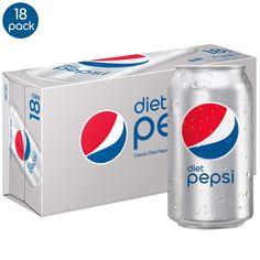 Diet Pepsi, 12 Fl Oz cans, Pack of 18 Diet Pepsi, Pepsi Cola, Milkshake Drink, Baby Swings And Bouncers, Junk Food Snacks, Bottle Art, Gourmet Recipes, Soda, Smoothies