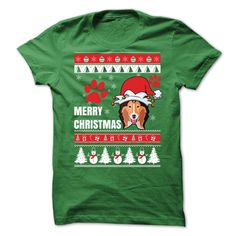 Cool Tshirt (Tshirt Perfect Gift) Merry Christmas With Collie Rough -  Shirts 2016