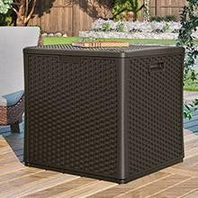 Suncast Medium Deck Box - Lightweight Resin Indoor/Outdoor Storage Container and Seat for Patio Cushions and Gardening Tools - Store Items on Patio, Garage, Yard - Mocha Brown Outdoor Gardens, Indoor Outdoor, Tool Store, Deck Box, Patio Cushions, Mocha Brown, Storage Containers, Outdoor Storage, Garden Tools