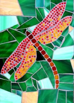 INSPIRATION: Going to make a Mosaic Wall in the front patio garden.  LOVE dragonflies, right?