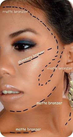 Where to use matte bronzer
