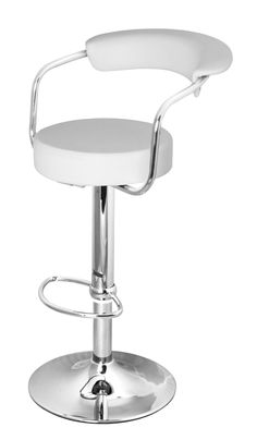 The Zenith Bar Stool in Cream.