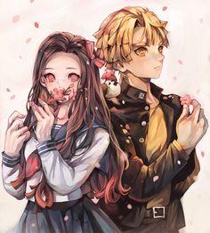 Demon Slayer: Kimetsu No Yaiba manga online Manga Art, Manga Anime, Anime Art, Demon Slayer, Slayer Anime, Anime Couples Manga, Cute Anime Couples, Anime Angel, Anime Demon