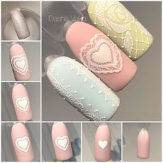 simple nail art tutorial for beginners Winter Nail Designs, Gel Nail Designs, Cute Nail Designs, 3d Nails, Cute Nails, Nail Art Dentelle, Nail Art Techniques, Vacation Nails, Gel Nails At Home