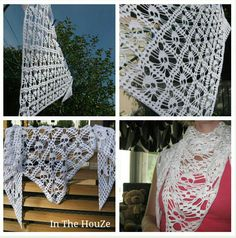 In The HouZe: Virkattu pääkallohuivi Crochet Shawl, Fun Crafts, Skulls, Awesome, Fun Diy Crafts, Fun Activities, Crochet Scarfs, Skeletons