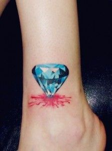 This tattoo appears like getting a wound from the sharp end of a diamond. #TattooModels