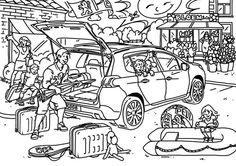 Peugeot kleurplaten by Winifred Ros, via Behance