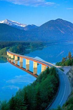 Bridge at Lake Sylvenstein, Germany | Amazing Pictures