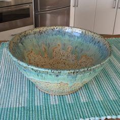 Ceramic glazes Amaco oatmeal with coyote gun metal green