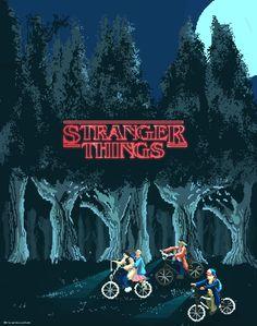 Stranger Things - Pixel Art Created by Ricardo Juchem