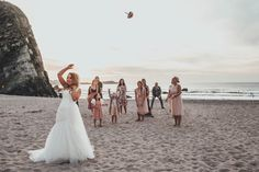 Bouquet throw on lusty glaze beach
