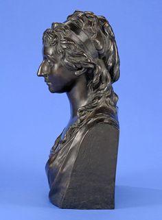 Berliner Schule Um 1800 Büste einer Prinzessin. Bronze. H 54 cm