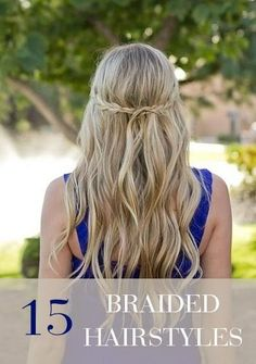 Try keeping things simple with long beach waves and a small braid... Check out 15 more styles here!