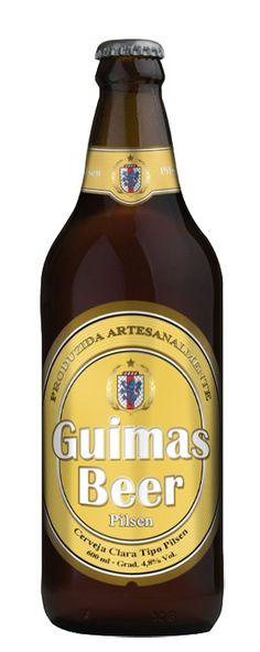 Cerveja Guimas Beer Pilsen, estilo German Pilsner, produzida por Guimas Beer, Brasil. 4.8% ABV de álcool.