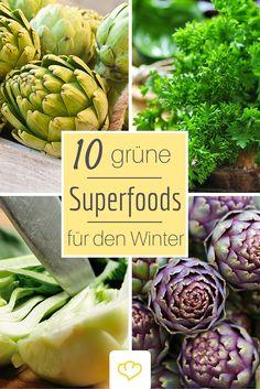 Mit diesen 10 grünen Superfoods kommt ihr fit und gesund durch den Winter!