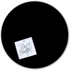Zwarte magneetsticker: een stijlvol alternatief magneetbord bij Groovy Magnets.