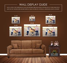 Here's a wall display guide I send my clients with their image. It gives them a great perspective of size. Photography Business, Family Photography, Photography Gear, Canvas Groupings, Diy Wall, Wall Art, Wall Decor, Galaxy Background, Portrait Wall