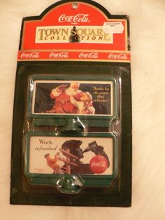 Christmas Village Coca Cola Town Square Collection Billboard 64318 2 Signs #CocaCola