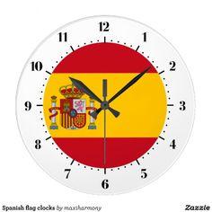 Spanish flag clocks