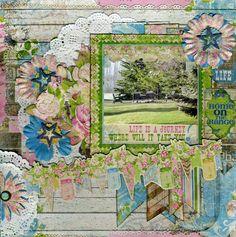 Doilies and Prairie Chic. a perfect combination by Lynn Shokoples. #BoBunny, # Prairie Chic, @LynnShokoples