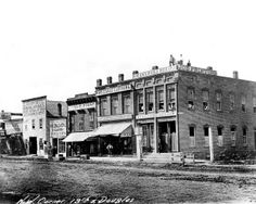 In 1865, the businesses that sat on the northwest corner of 13th and Douglas Streets included the Omaha Daily Herald, Leopold May, Omaha Cigar Factory, L. Woodworth, the Republican Headquarters, the Colfax Club, a clothing store and a billiard saloon. THE WORLD-HERALD