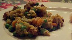 Gluten Free Fried Rice with Mango Spring Rolls!  dairy free too!  glutenfreehappytummy