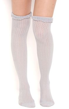 Deb Shops knit over the knee sock with scrunched cuff $5.60