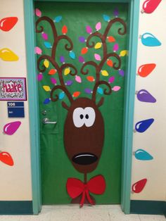Christmas Door Decorating Contest Ideas Unique Rudolph the Red Nose Reindeer Christmas Door Decoration Ideas – Decorating Ideas Preschool Door Decorations, Holiday Door Decorations, Christmas Door Decorating Contest, Christmas Decorations For Classroom, Thanksgiving Classroom Door, Christmas Bulletin Boards, Preschool Christmas, Christmas Crafts For Kids, Christmas Fun