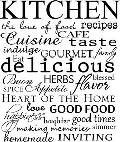 Kitchen subway art  vinyl wall  decal.