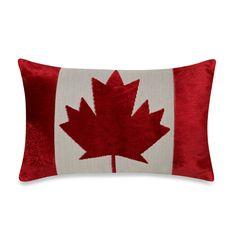 Canadian Flag Oblong Throw Pillow