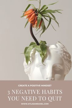 Mindset is everything! Learn the 3 negative habits that are keeping you in that negative headspace and how to stop doing them! Positive mindset, negative habits, daily affirmations, avoid negative self-talk, reactive people, change your mindset, personal development, lifestyle blog, self-help, mindfulness, becoming proactive, positive attitude, positive affirmations.