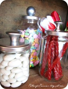 - don't throw out your jars, repurpose them--why didn't I think of this?  how many candle jars have gone to the recycle bin?